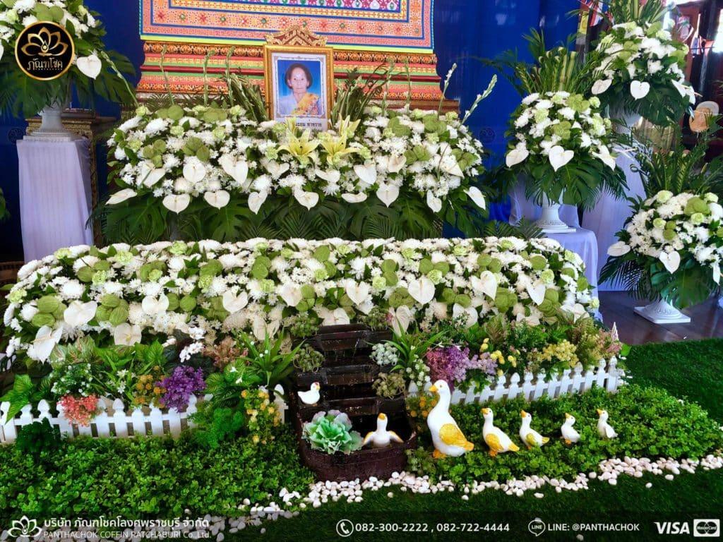 ดอกไม้หน้าศพ กับหีบมอญ - สมุทรสาคร 16/4/2562 1