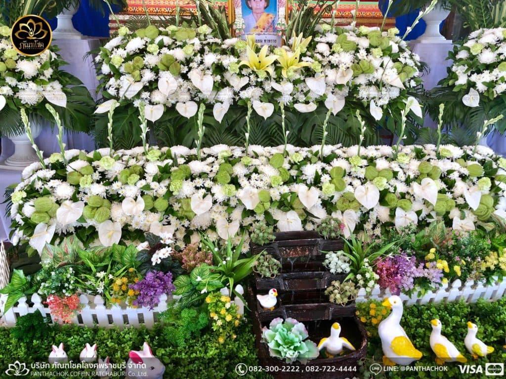 ดอกไม้หน้าศพ กับหีบมอญ - สมุทรสาคร 16/4/2562 2