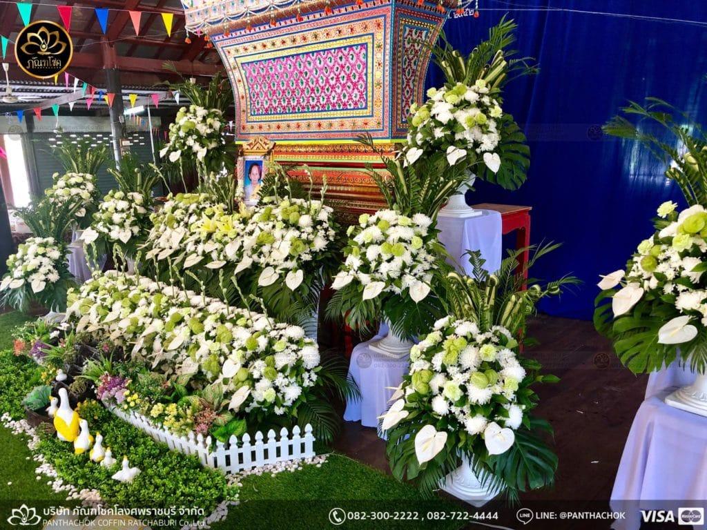 ดอกไม้หน้าศพ กับหีบมอญ - สมุทรสาคร 16/4/2562 3