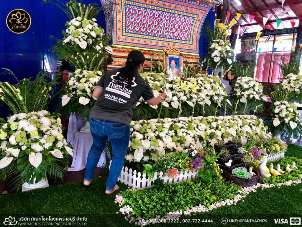 ดอกไม้หน้าศพ กับหีบมอญ - สมุทรสาคร 16/4/2562 5