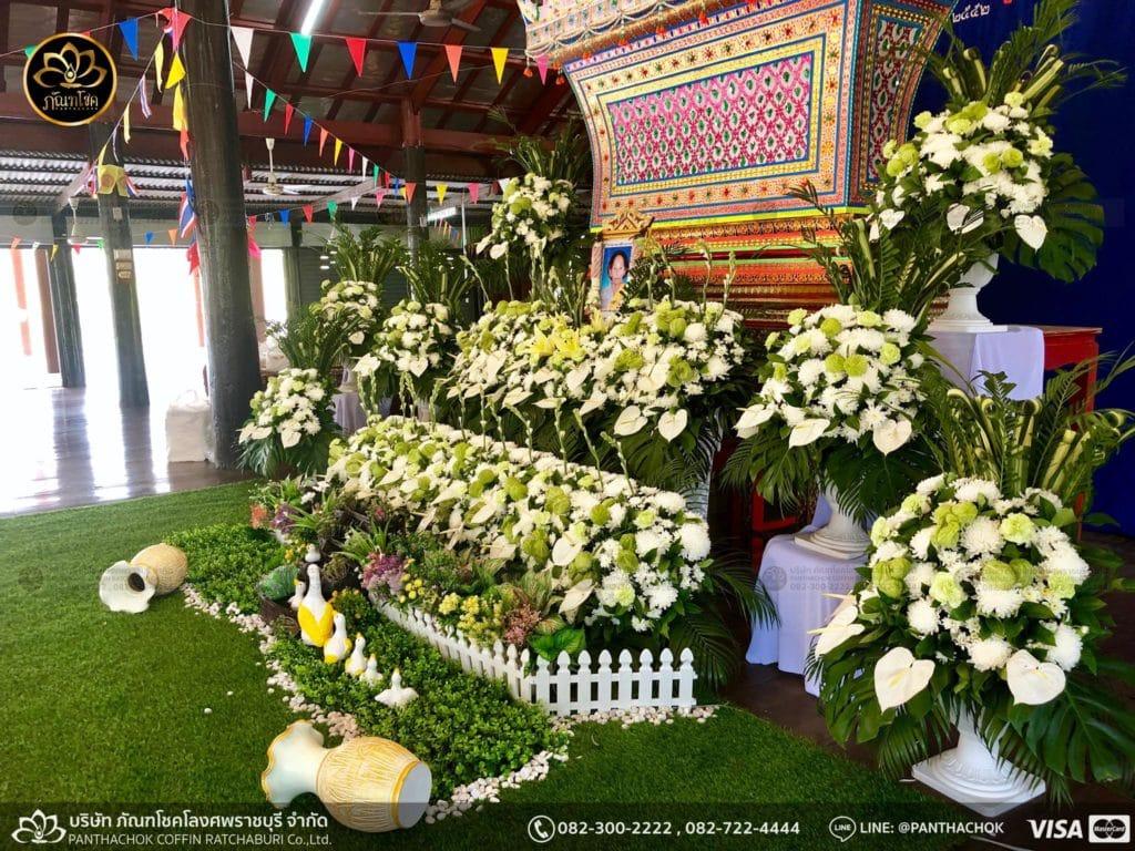 ดอกไม้หน้าศพ กับหีบมอญ - สมุทรสาคร 16/4/2562 8