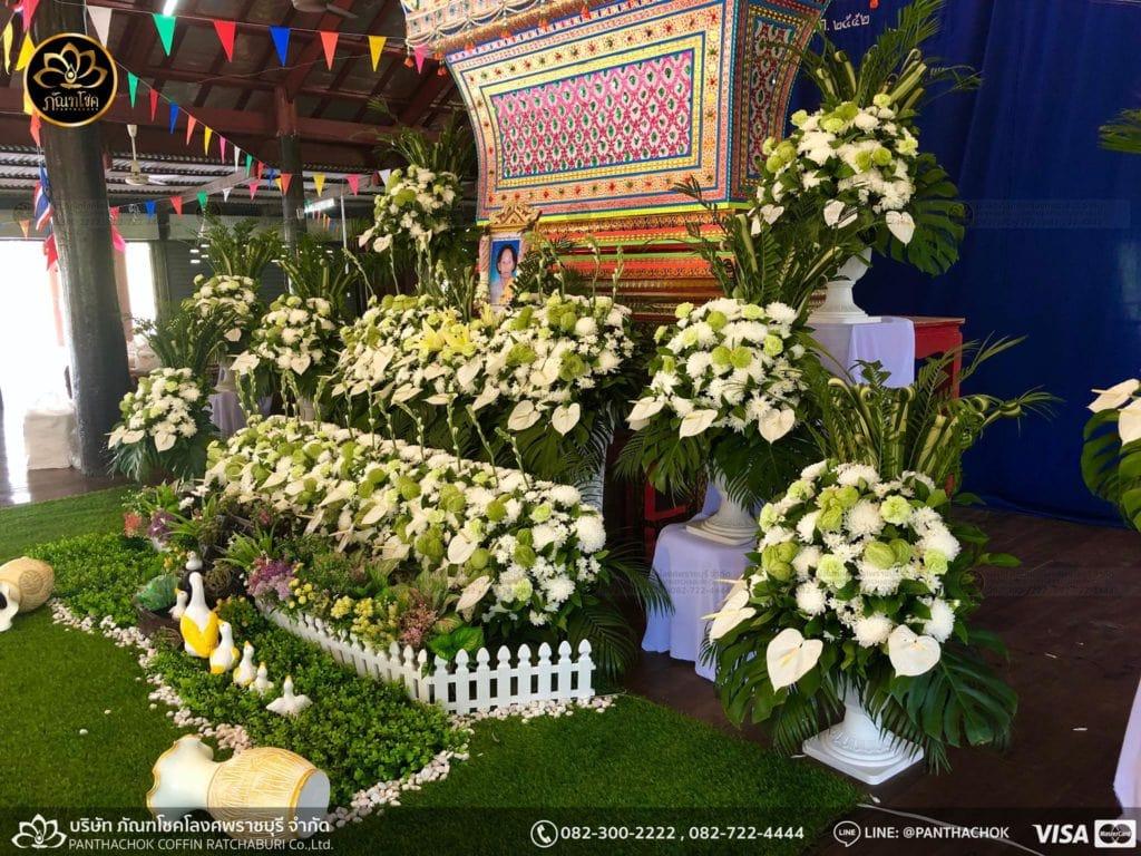 ดอกไม้หน้าศพ กับหีบมอญ - สมุทรสาคร 16/4/2562 9