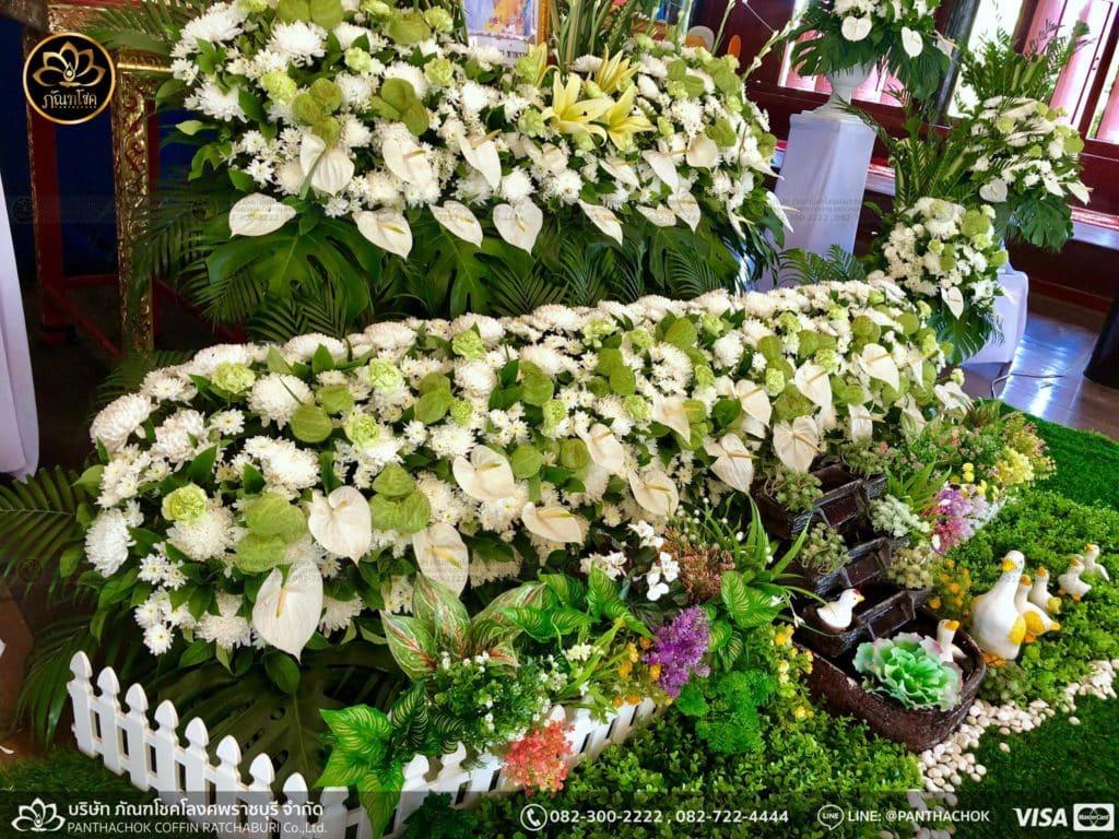 ดอกไม้หน้าศพ กับหีบมอญ - สมุทรสาคร 16/4/2562 13