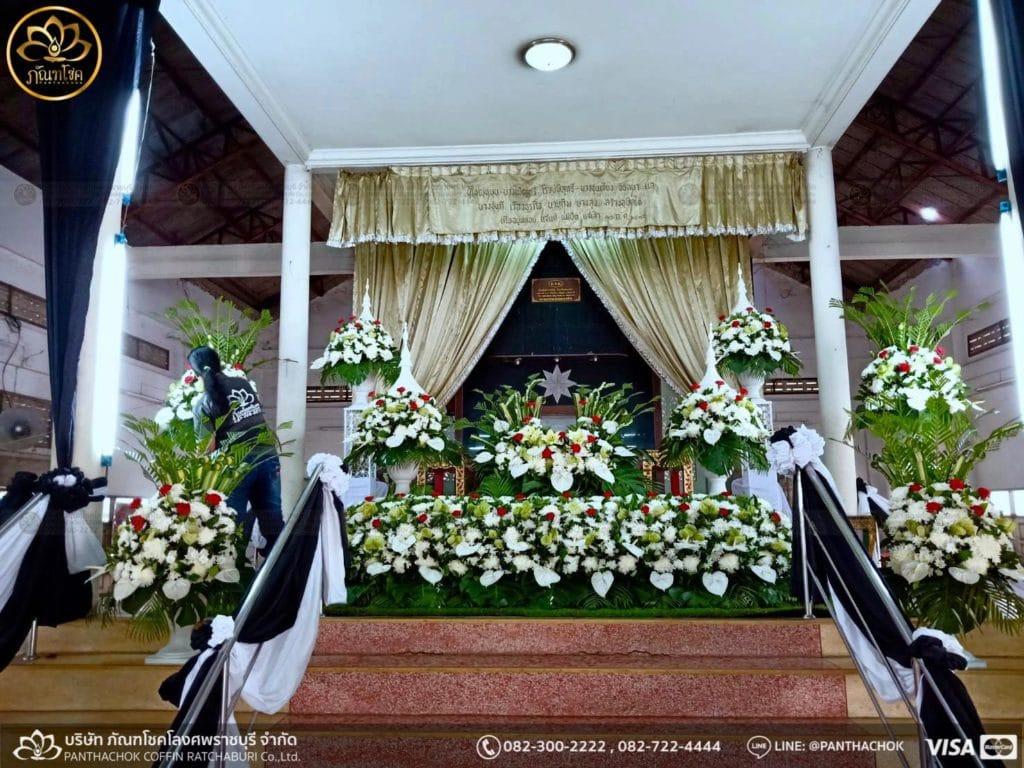 ผลงานดอกไม้ในงานศพ วันที่ 28/05/2562 3