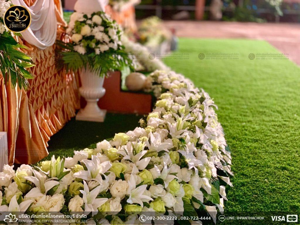 ผลงานประดับดอกไม้แห้ง เมรุวัดมณีสรรค์ - งานคุณพ่ออนงค์ พันธเสน 27