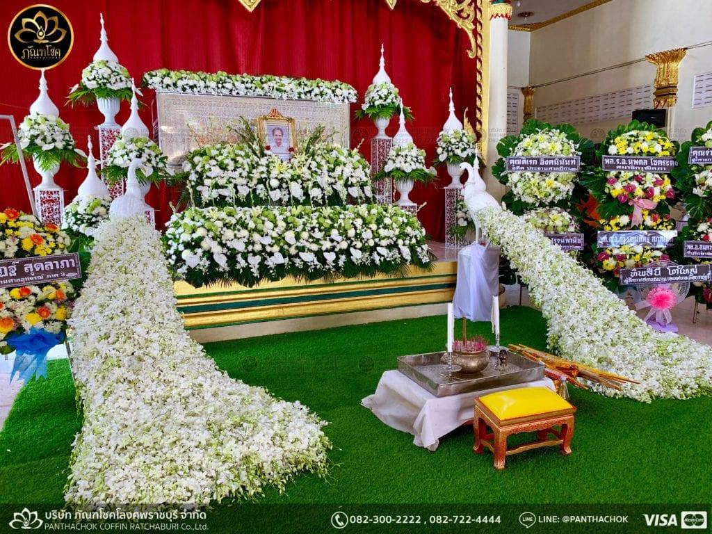 ผลงานจัดดอกไม้ งานศพญาตผู้ใหญ่ครอบครัวโรจนพานิช 10