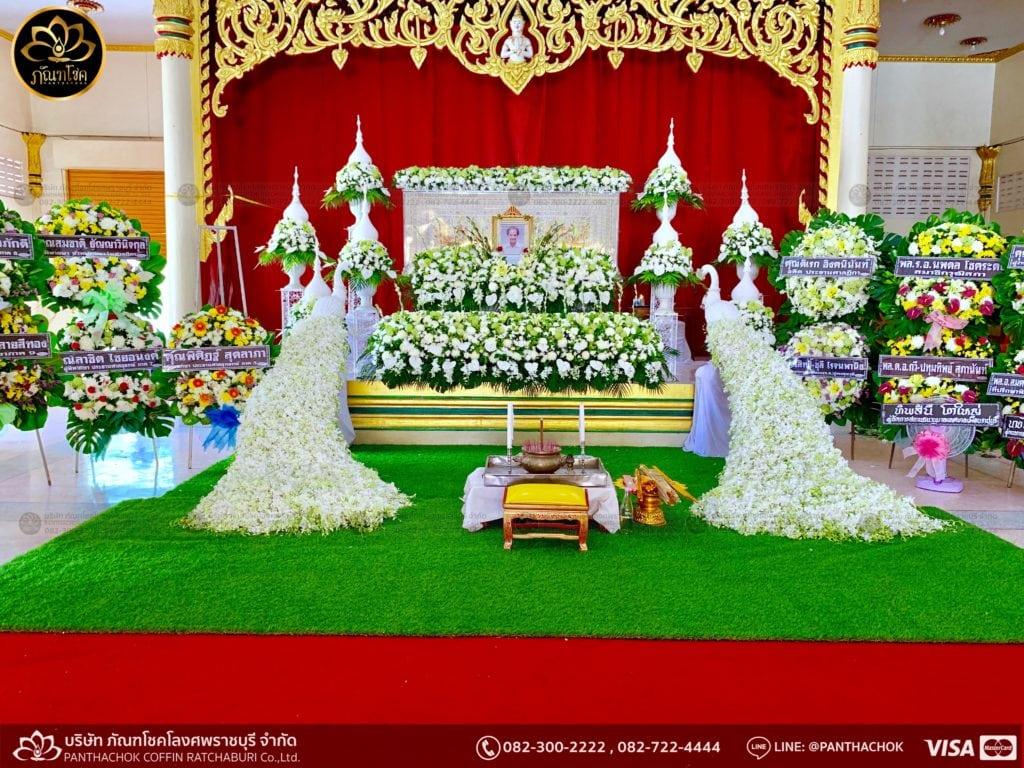 ผลงานจัดดอกไม้ งานศพญาตผู้ใหญ่ครอบครัวโรจนพานิช 11