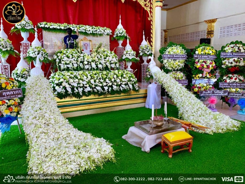 ผลงานจัดดอกไม้ งานศพญาตผู้ใหญ่ครอบครัวโรจนพานิช 5