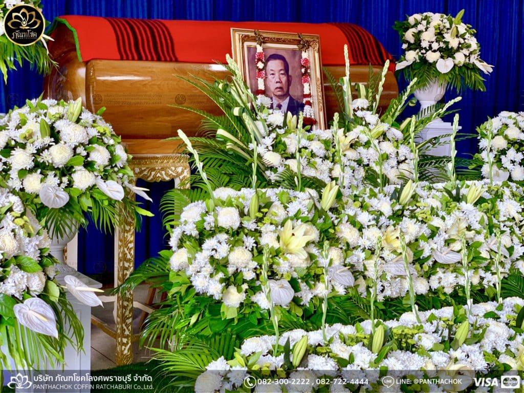 ผลงานจัดดอกไม้หน้าศพ วัดศรีสุริยวงศาราม จ.ราชบุรี 5