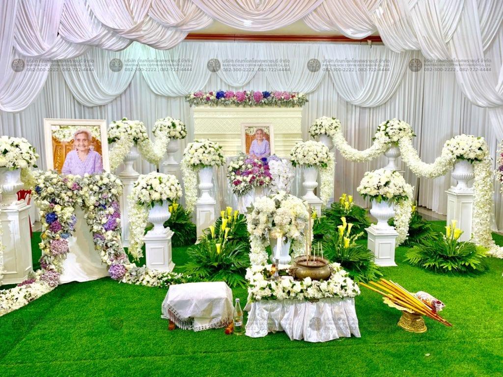 รับจัดดอกไม้งานศพราชบุรี นครปฐม เพชรบุรี กรุงเทพ
