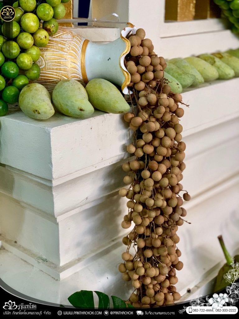 ผลไม้ประดับเมรุ วัดอ้อมน้อย จ.สมุทรสาคร - ผลงานจัดเมรุด้วยผลไม้กว่า 2000kg 36