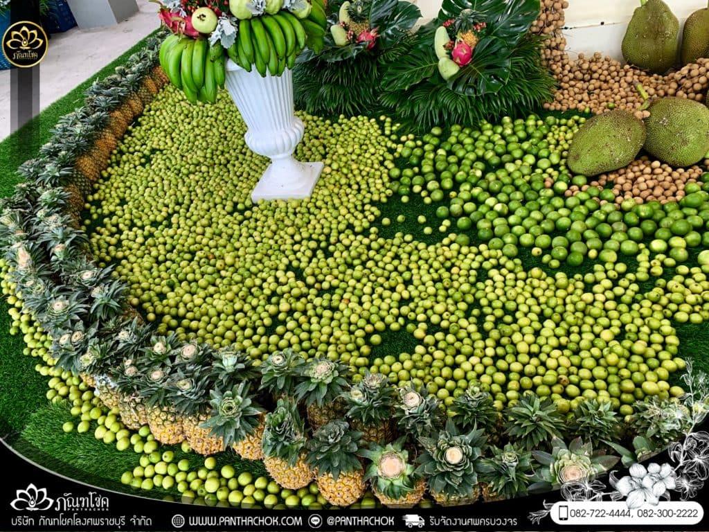 ผลไม้ประดับเมรุ วัดอ้อมน้อย จ.สมุทรสาคร - ผลงานจัดเมรุด้วยผลไม้กว่า 2000kg 29