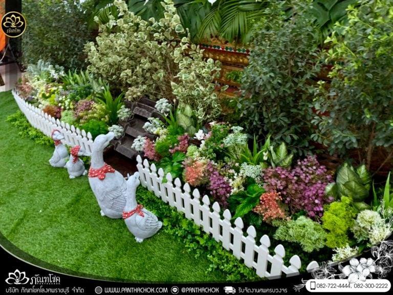 สวนดอกไม้แห้งประดับงานศพ ดอกไม้ราคาถูก