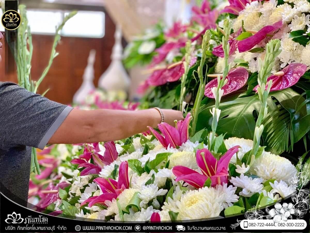 ดอกไม้หน้าหีบโทนสีม่วง-ขาว วัดแจ้งเจริญ อ.วัดเพลง จ.ราชบุรี 3