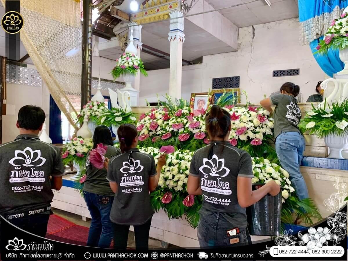 ดอกไม้หน้าหีบโทนสีม่วง-ขาว วัดแจ้งเจริญ อ.วัดเพลง จ.ราชบุรี 5