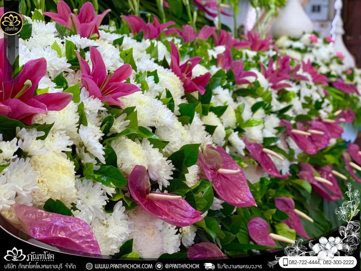 ดอกไม้หน้าหีบโทนสีม่วง-ขาว วัดแจ้งเจริญ อ.วัดเพลง จ.ราชบุรี 7