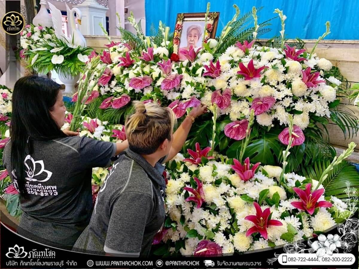 ดอกไม้หน้าหีบโทนสีม่วง-ขาว วัดแจ้งเจริญ อ.วัดเพลง จ.ราชบุรี 8