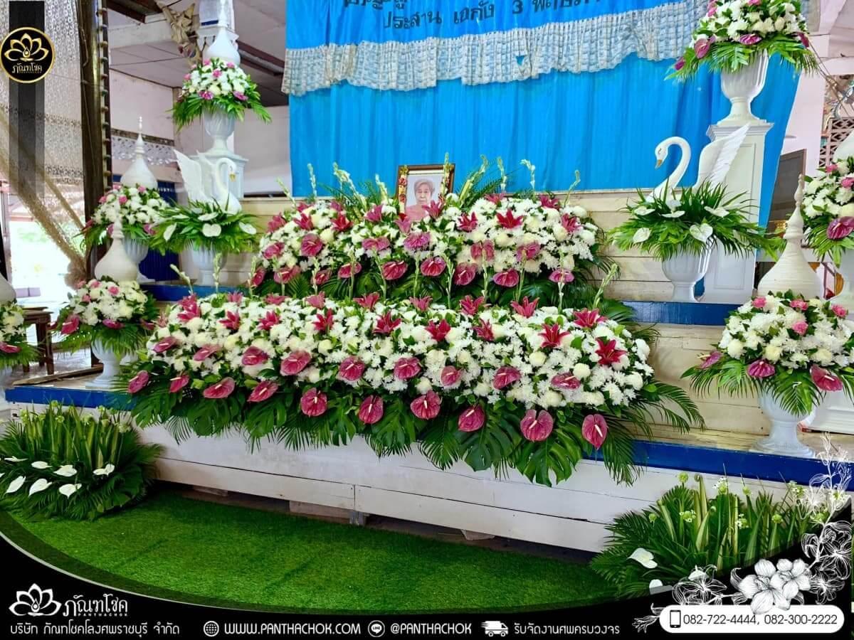 ดอกไม้หน้าหีบโทนสีม่วง-ขาว วัดแจ้งเจริญ อ.วัดเพลง จ.ราชบุรี 9