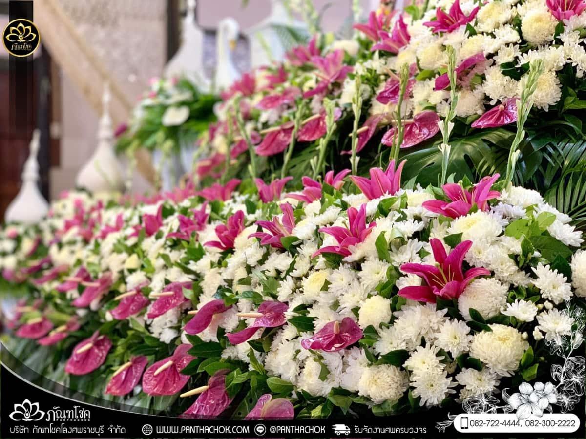ดอกไม้หน้าหีบโทนสีม่วง-ขาว วัดแจ้งเจริญ อ.วัดเพลง จ.ราชบุรี 1