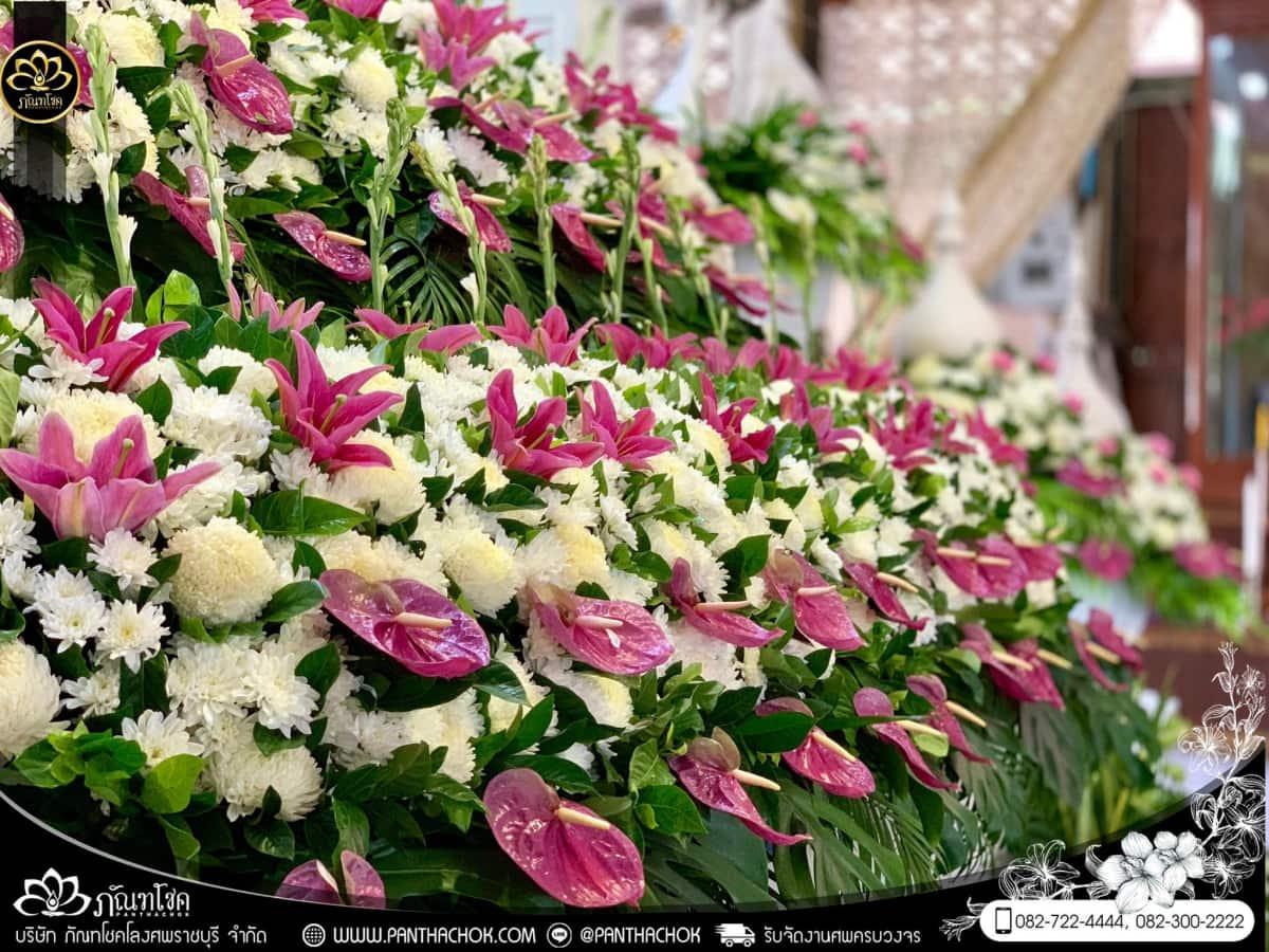ดอกไม้หน้าหีบโทนสีม่วง-ขาว วัดแจ้งเจริญ อ.วัดเพลง จ.ราชบุรี 10