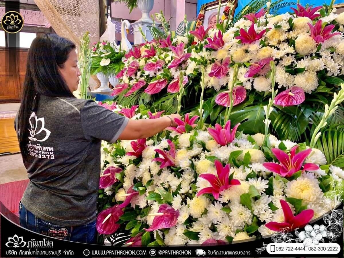 ดอกไม้หน้าหีบโทนสีม่วง-ขาว วัดแจ้งเจริญ อ.วัดเพลง จ.ราชบุรี 11
