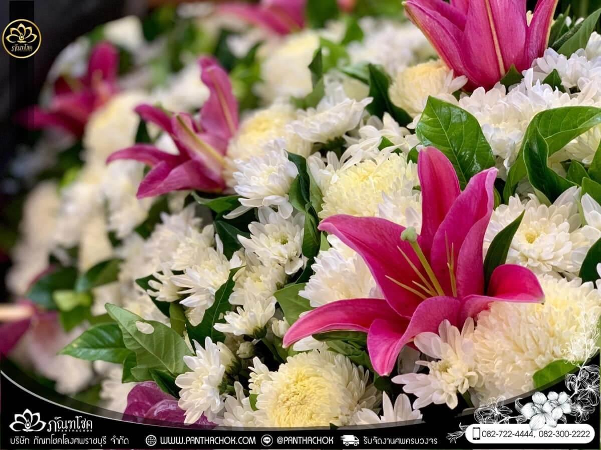 ดอกไม้หน้าหีบโทนสีม่วง-ขาว วัดแจ้งเจริญ อ.วัดเพลง จ.ราชบุรี 13