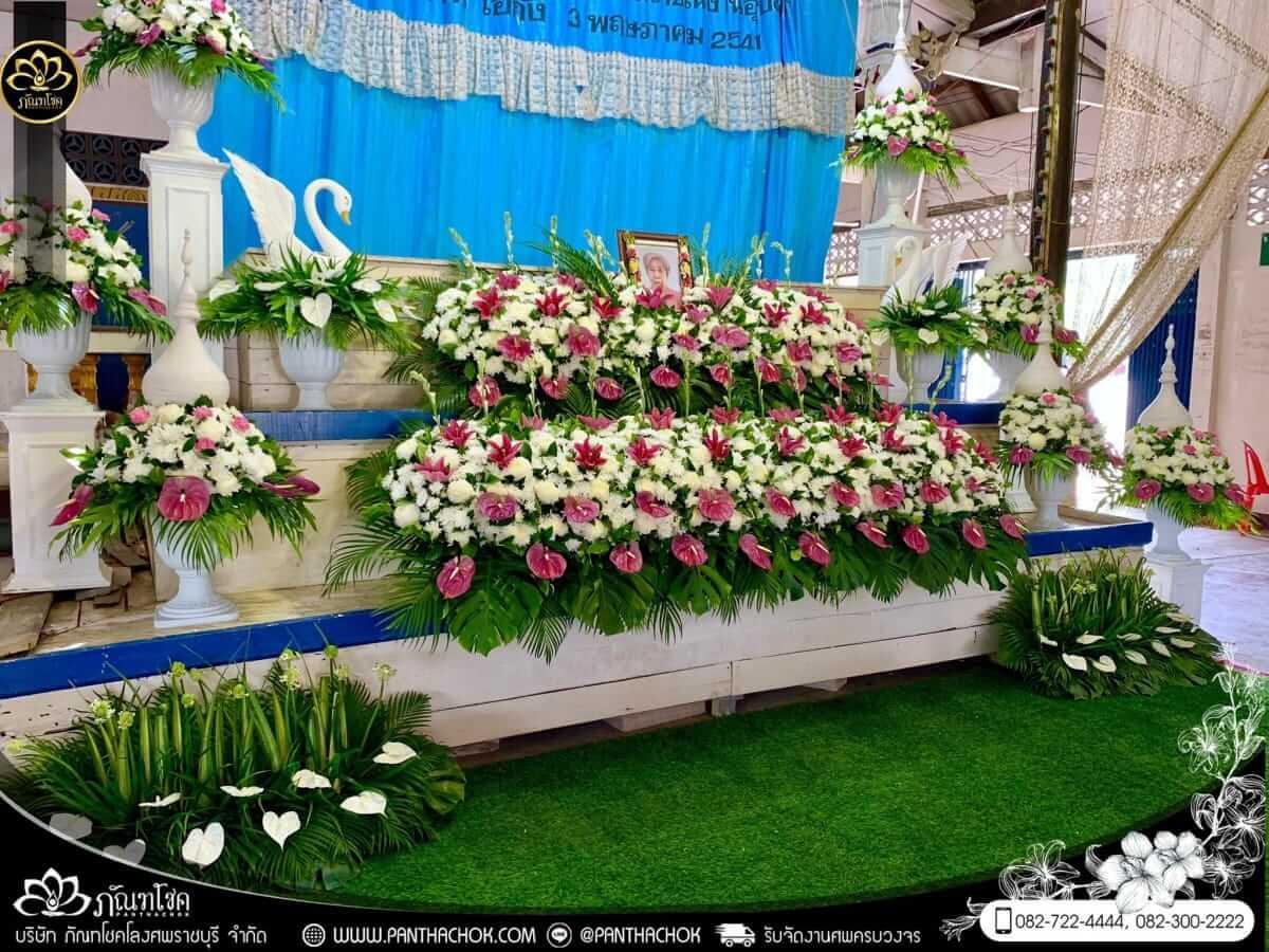 ดอกไม้หน้าหีบโทนสีม่วง-ขาว วัดแจ้งเจริญ อ.วัดเพลง จ.ราชบุรี 18
