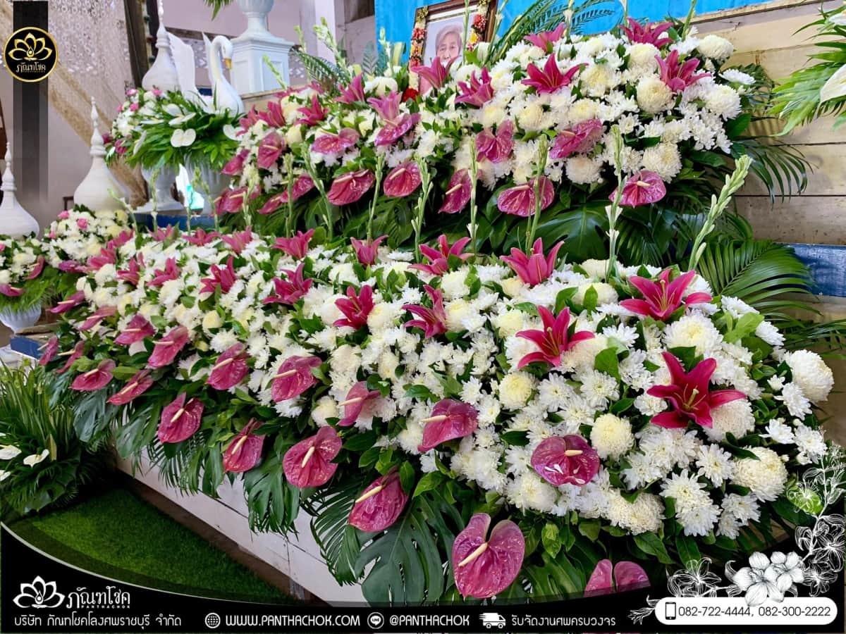ดอกไม้หน้าหีบโทนสีม่วง-ขาว วัดแจ้งเจริญ อ.วัดเพลง จ.ราชบุรี 20