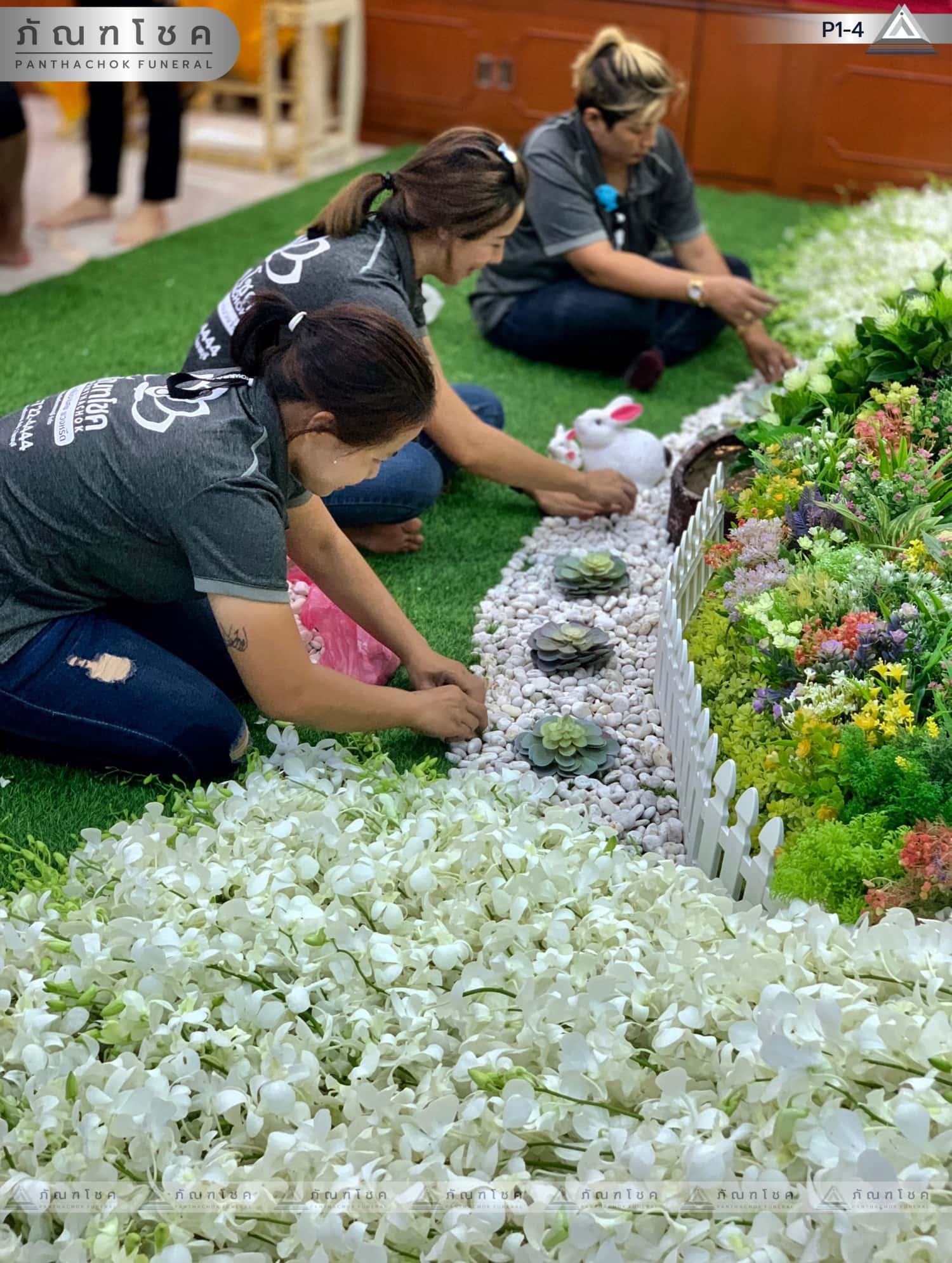 ดอกไม้หน้าศพ ชุด P1-4 75