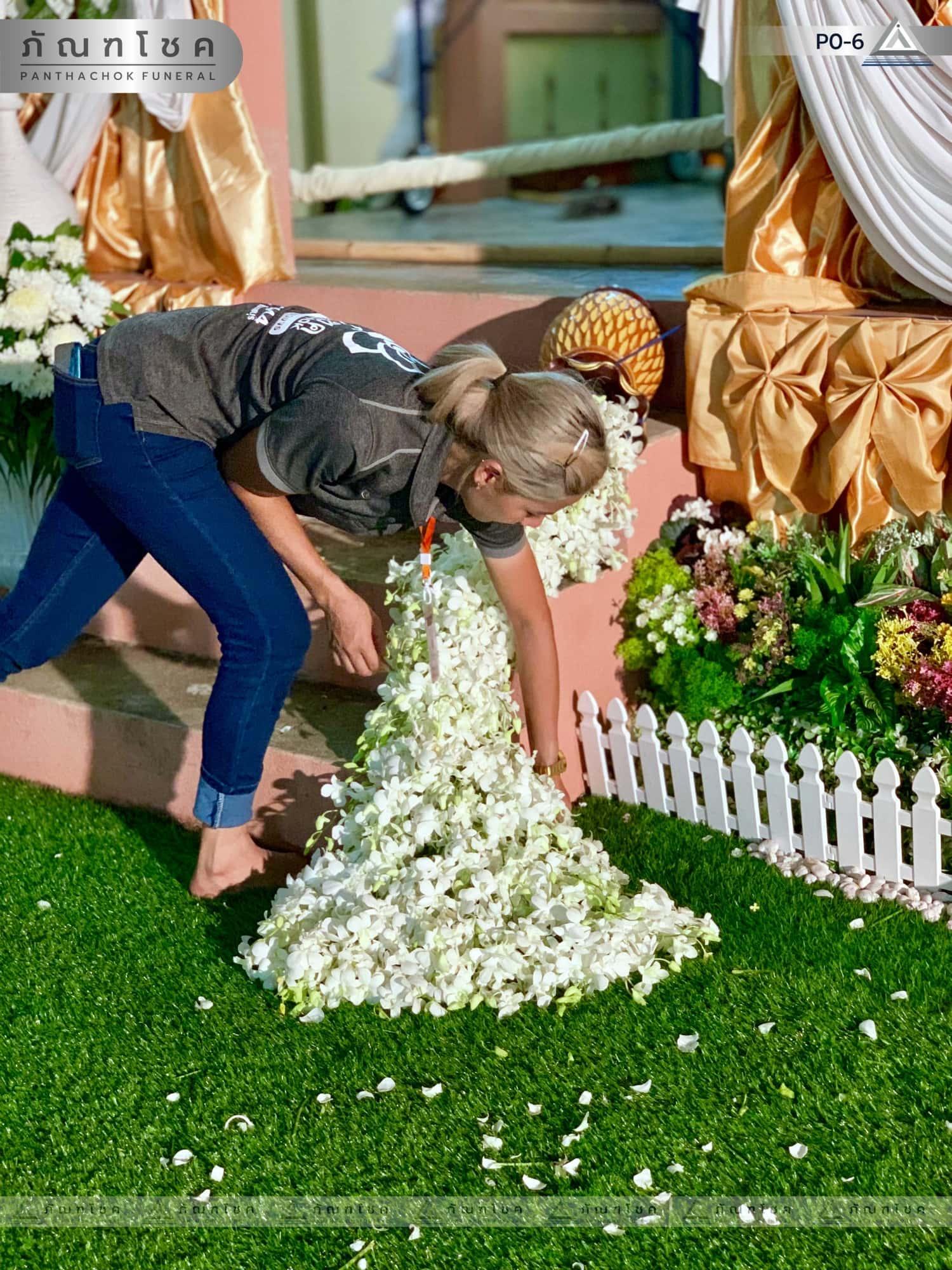 ดอกไม้ประดับเมรุ ชุด P0-6 144