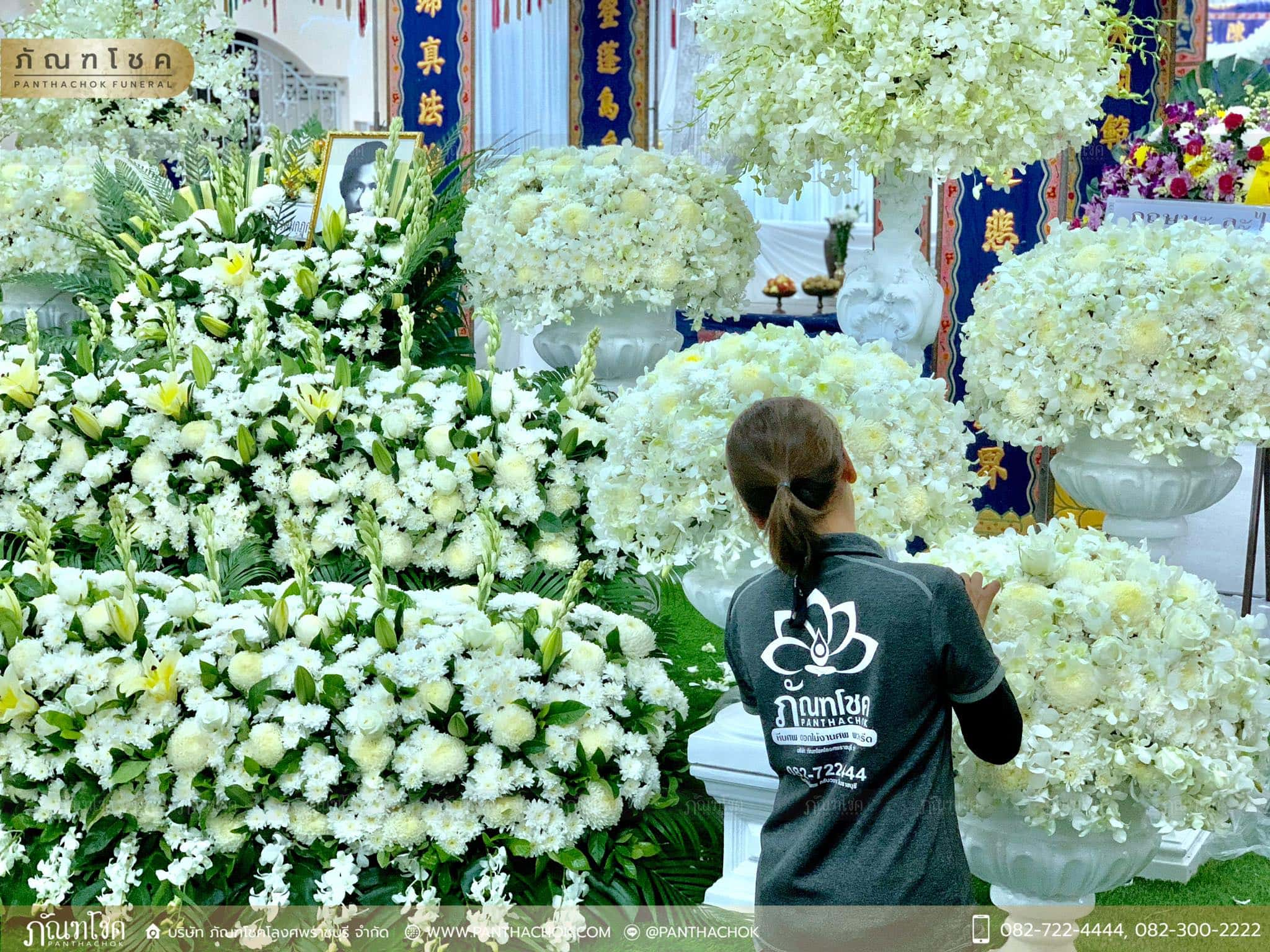ผลงานจัดดอกไม้ ณ มูลนิธิแพร่ศีลธรรมการกุศลสงเคราะห์ 1