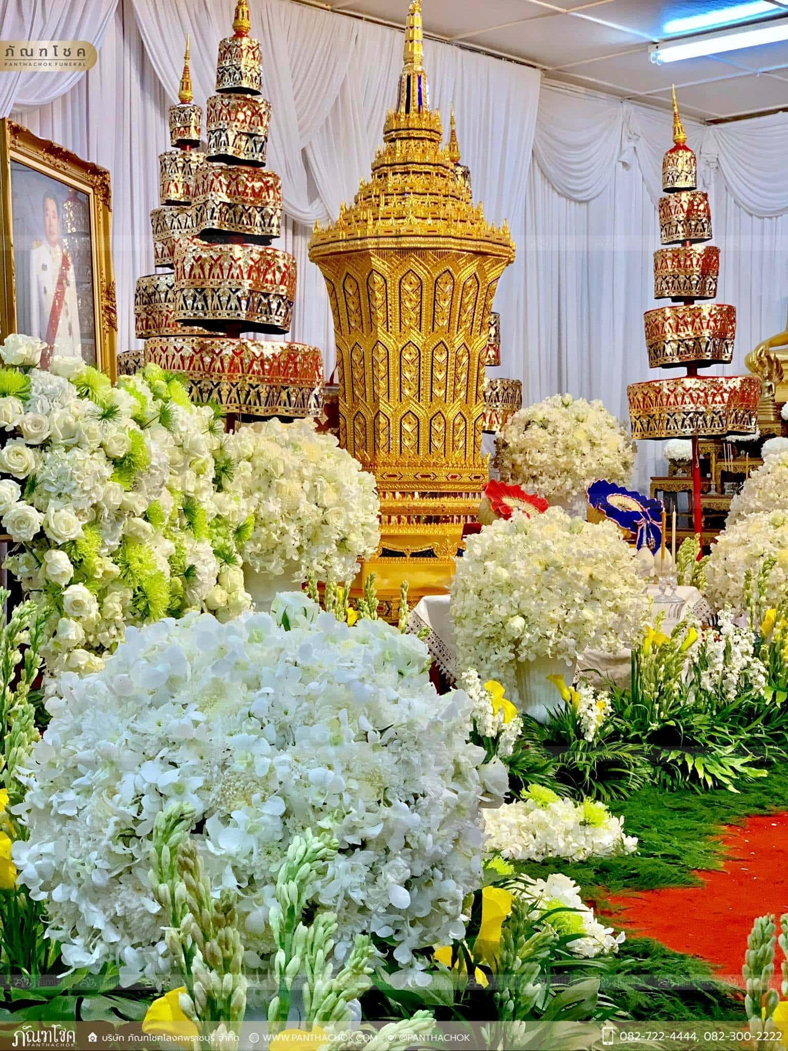 ดอกไม้ประดับหน้าโกศ อดีตผู้ว่าราชการจังหวัดราชบุรี 5