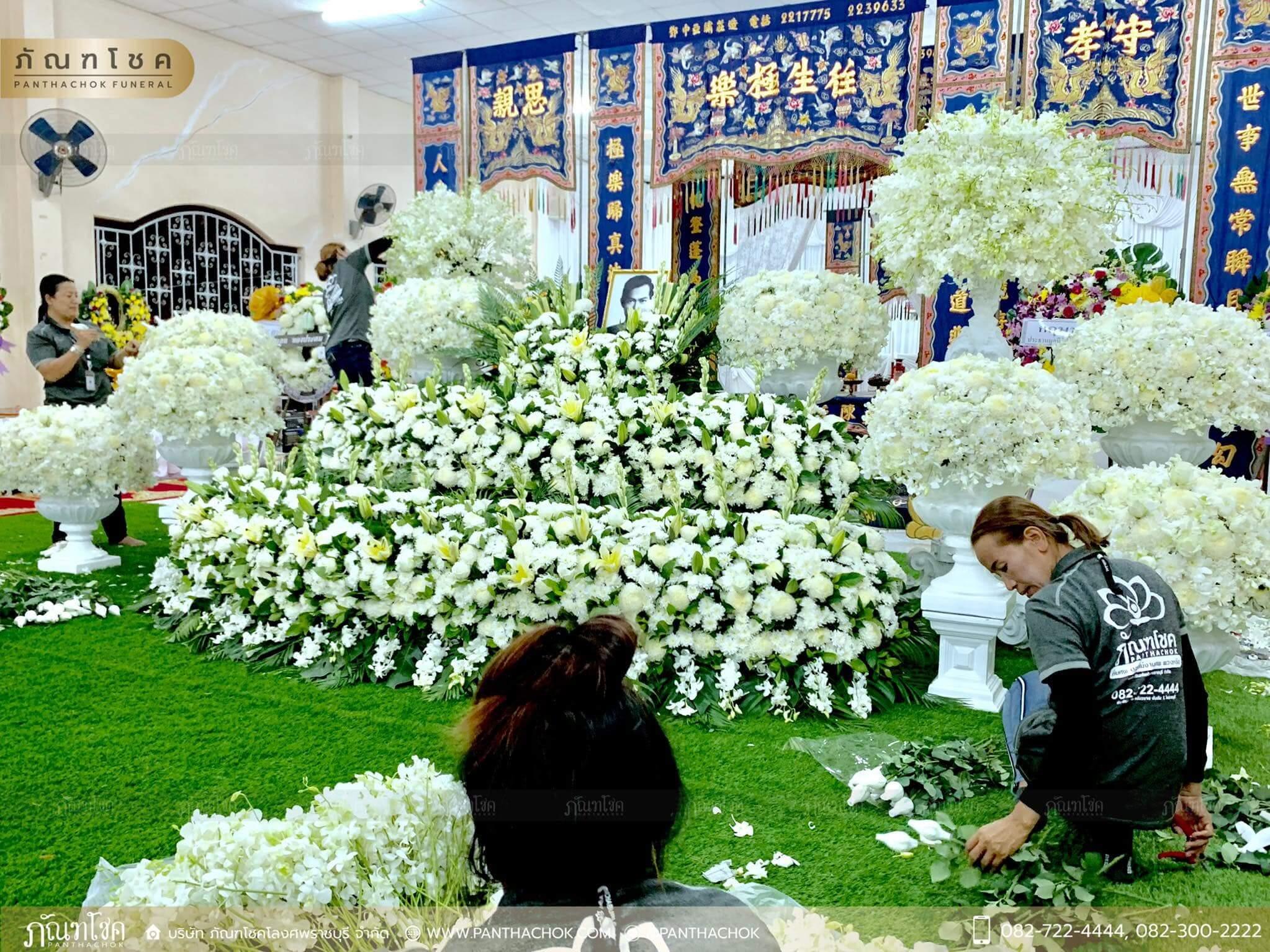 ผลงานจัดดอกไม้ ณ มูลนิธิแพร่ศีลธรรมการกุศลสงเคราะห์ 2