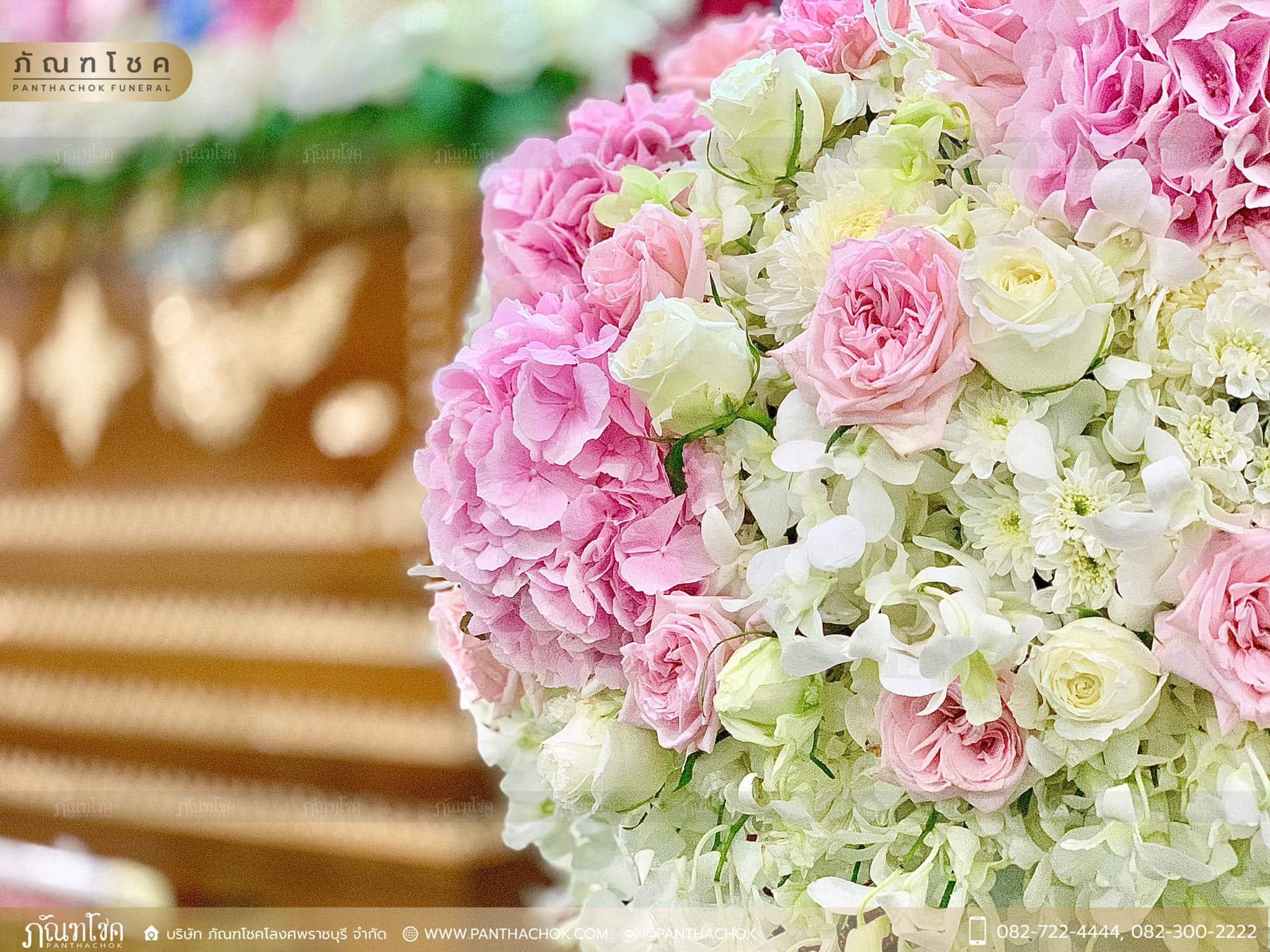 ดอกไม้หน้าหีบสีหวานสดใส ณ วัดหลักสี่ กทม. 4