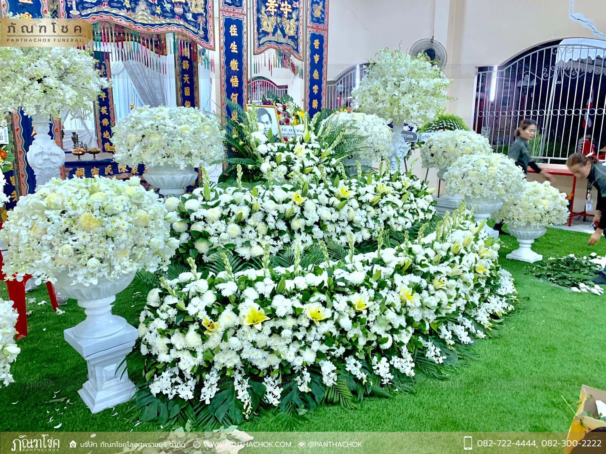 ผลงานจัดดอกไม้ ณ มูลนิธิแพร่ศีลธรรมการกุศลสงเคราะห์ 3