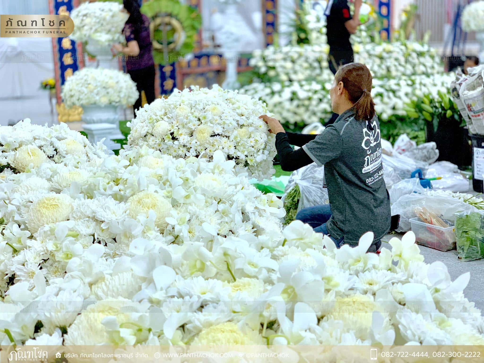 ผลงานจัดดอกไม้ ณ มูลนิธิแพร่ศีลธรรมการกุศลสงเคราะห์ 4