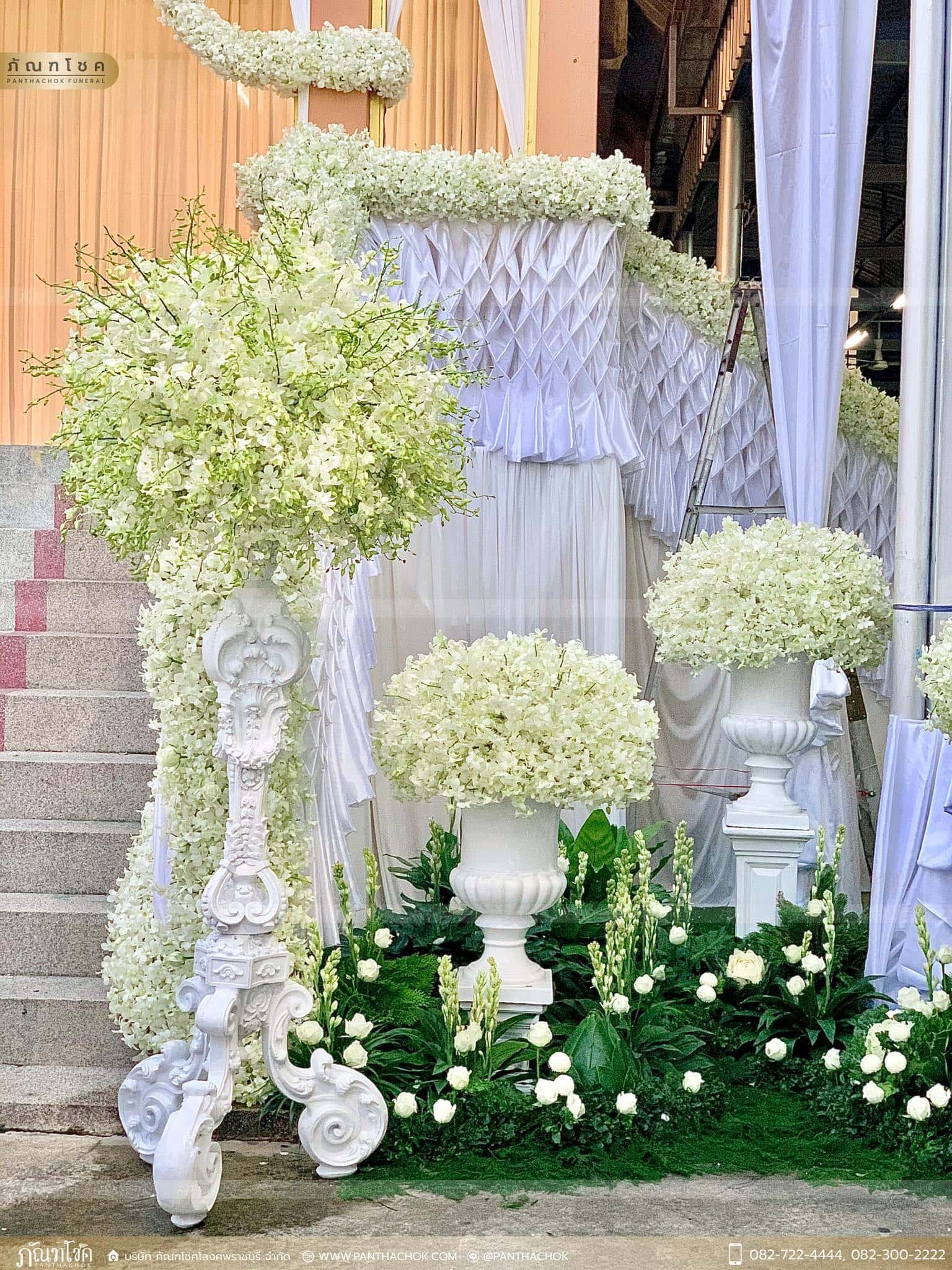 งานประดับตกแต่งเมรุงานพิธีพระราชทานเพลิงศพ อดีตผู้ว่าราชการจังหวัดราชบุรี 6