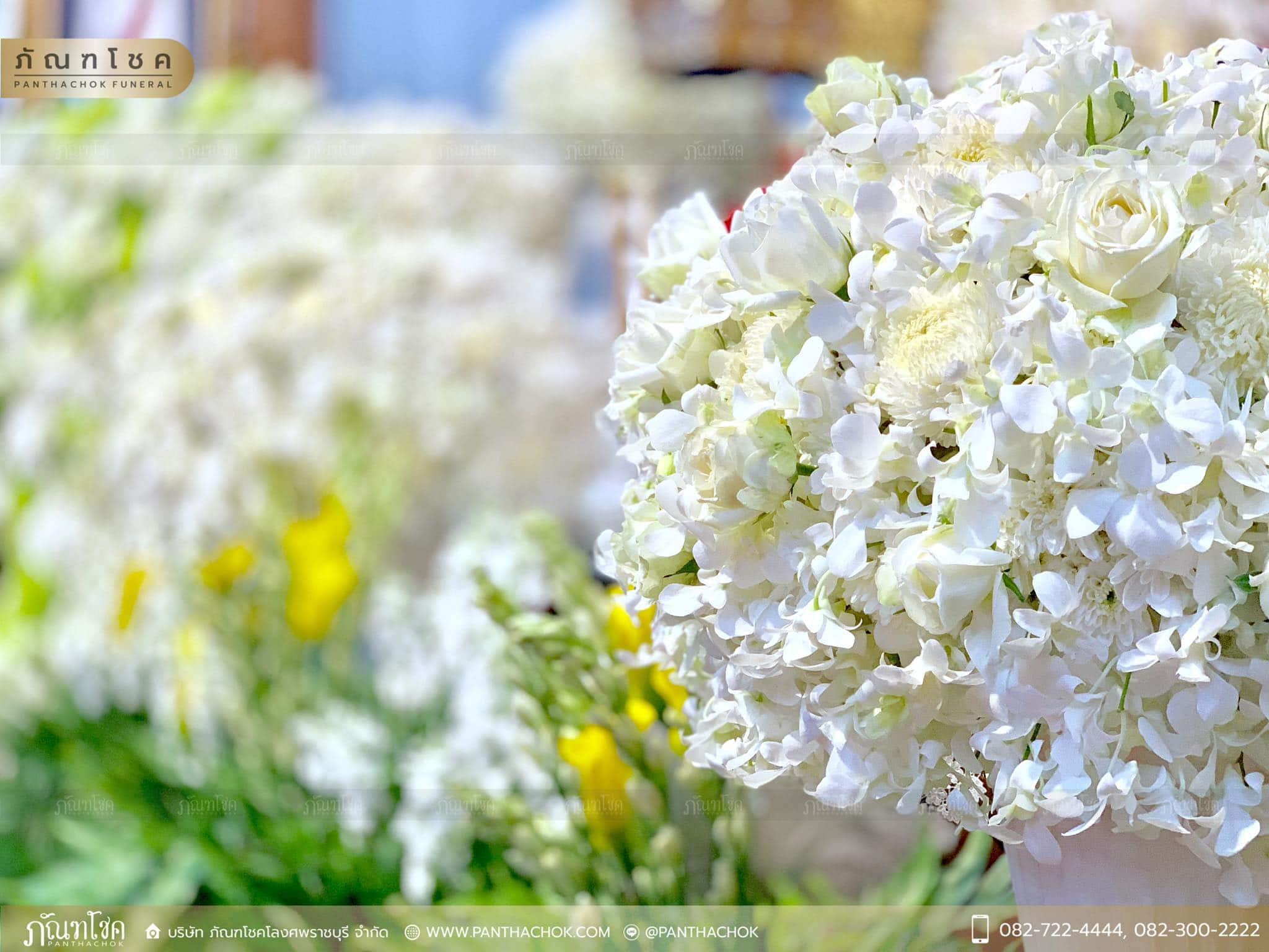ดอกไม้ประดับหน้าโกศ อดีตผู้ว่าราชการจังหวัดราชบุรี 16