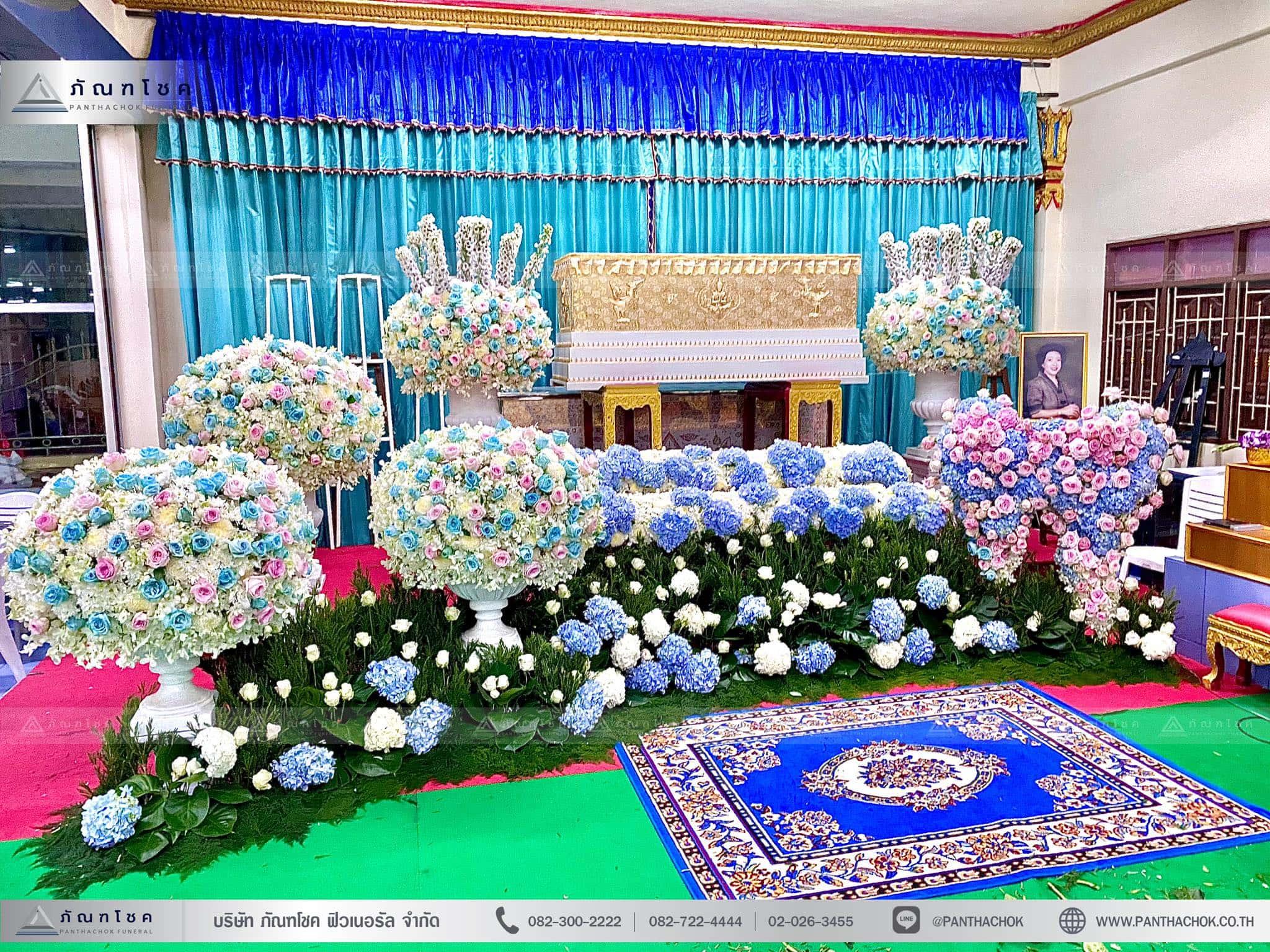 ดอกไม้งานศพสไตล์โมเดิร์น ณ วัดบัวขวัญพระอารามหลวง จ.นนทบุรี 2