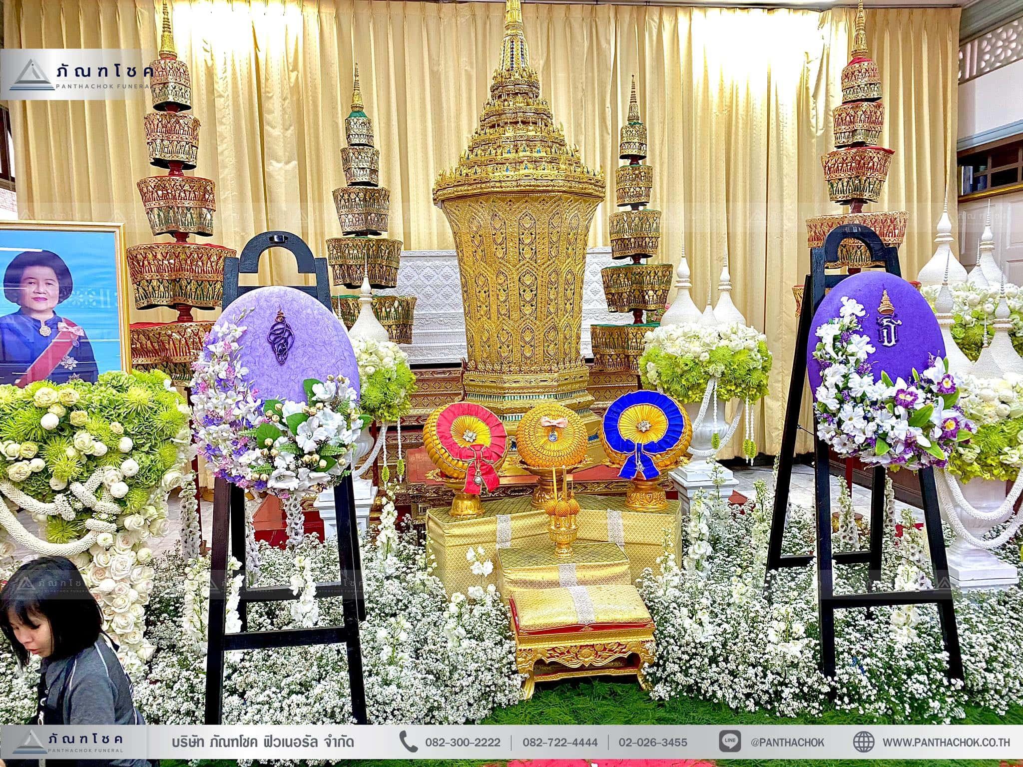 ดอกไม้ประดับหน้าโกศพระราชทาน ณ วัดมกุฏกษัตริยารามราชวรวิหาร 9