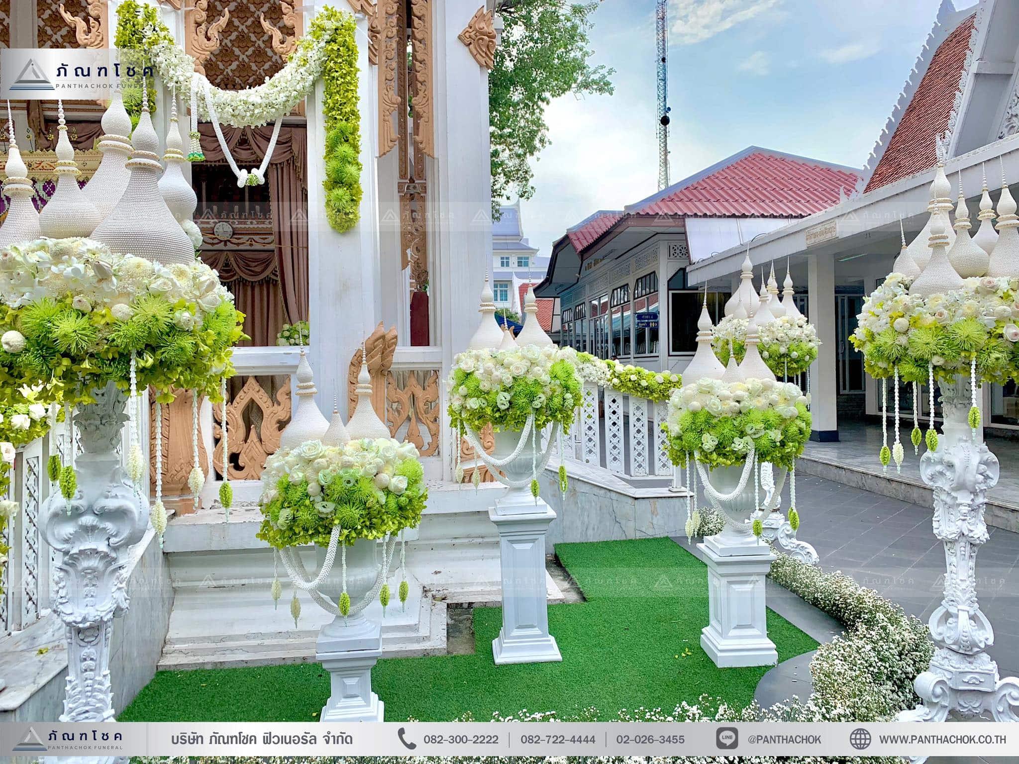 ดอกไม้ประดับเมรุในรูปแบบไทยประยุกต์ ณ วัดมกุฏกษัตริยารามราชวรวิหาร 8