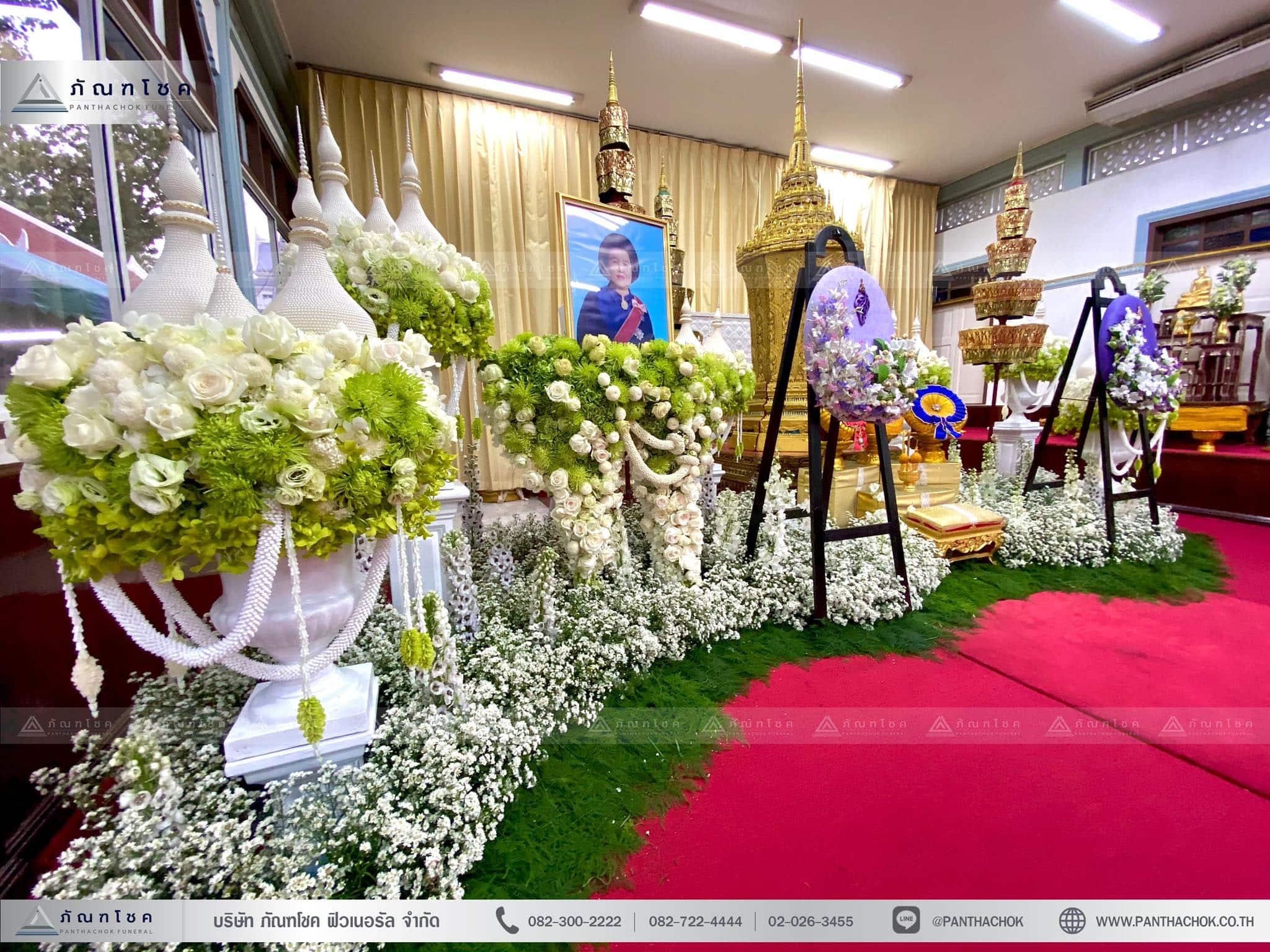 ดอกไม้ประดับหน้าโกศพระราชทาน ณ วัดมกุฏกษัตริยารามราชวรวิหาร 4