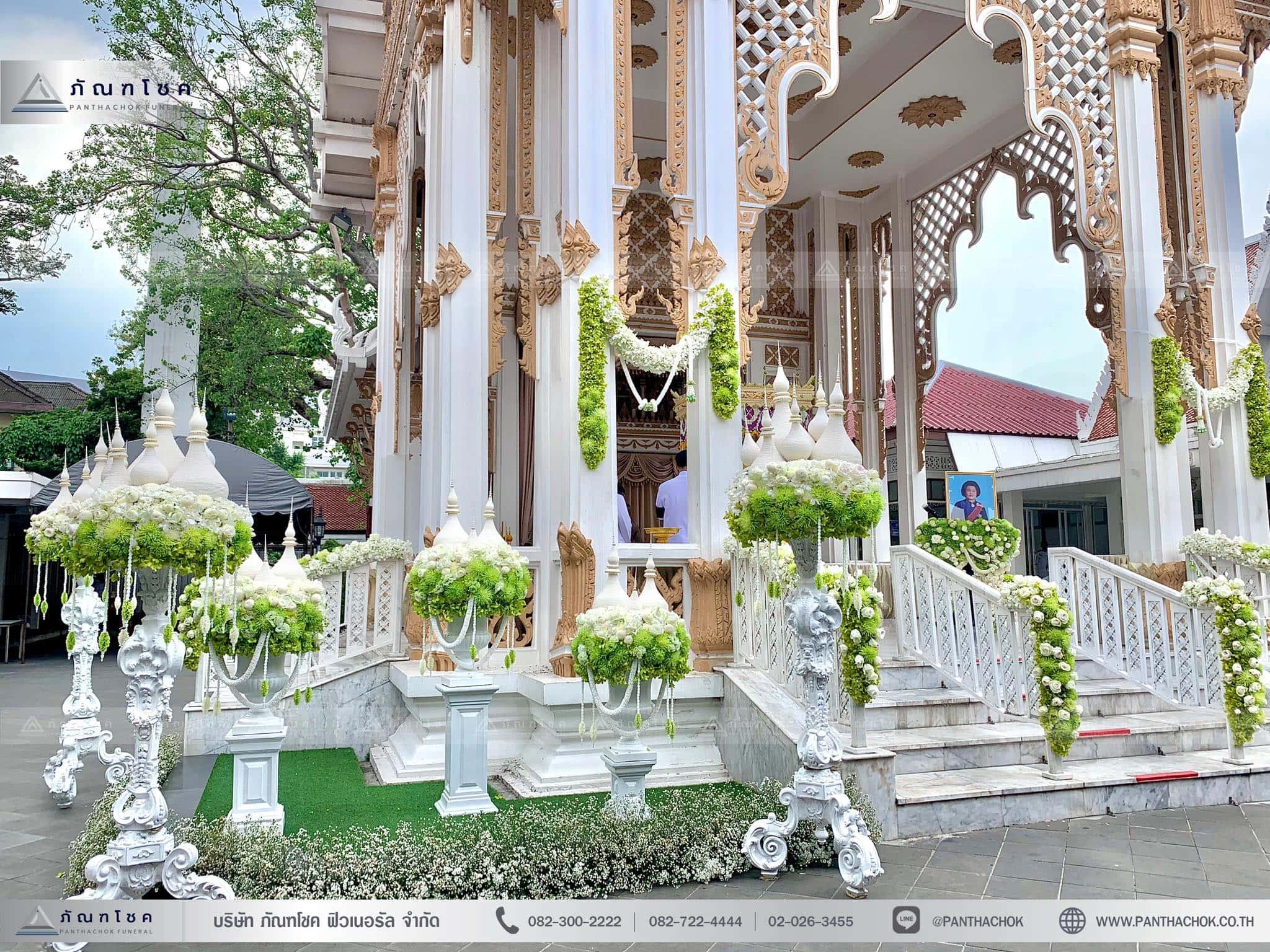 ดอกไม้ประดับเมรุในรูปแบบไทยประยุกต์ ณ วัดมกุฏกษัตริยารามราชวรวิหาร 6