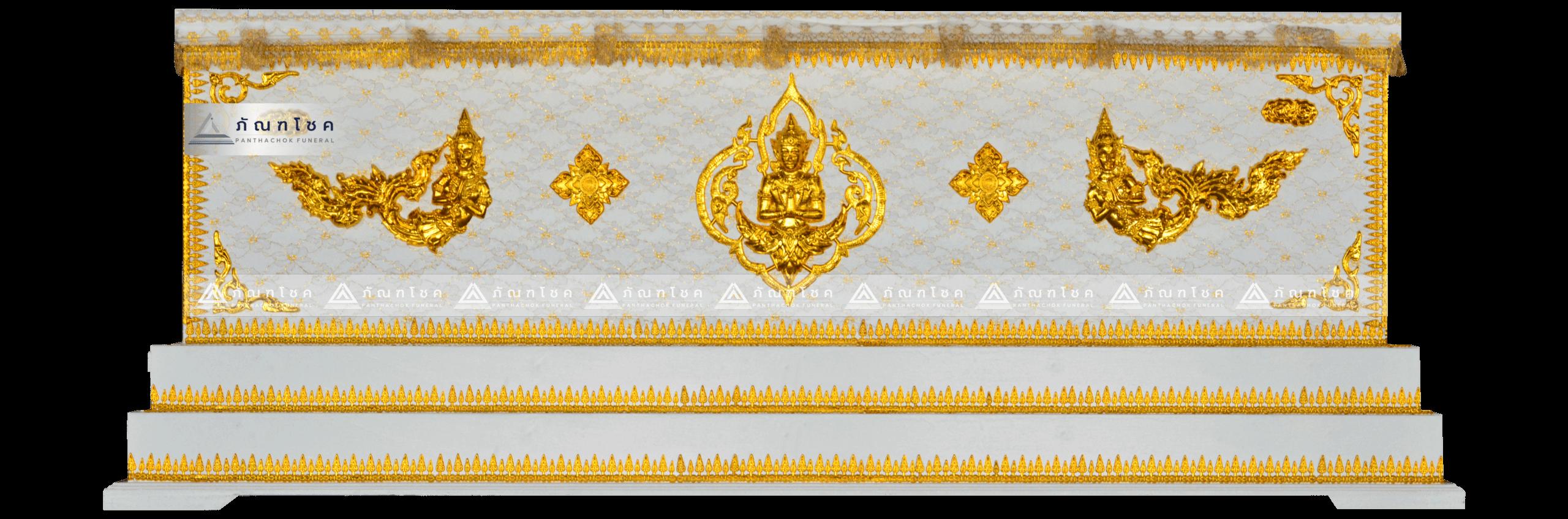 โลงเทพพนม สีขาว-ทอง