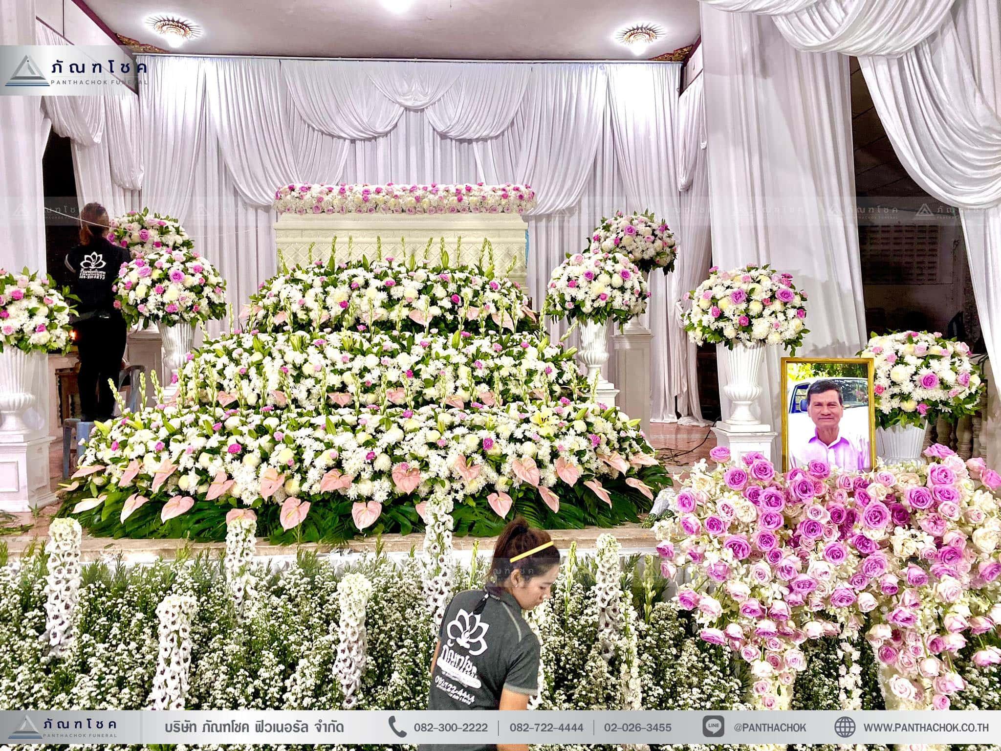 ดอกไม้ประดับ3ชั้น สวนดอกไม้งานศพ