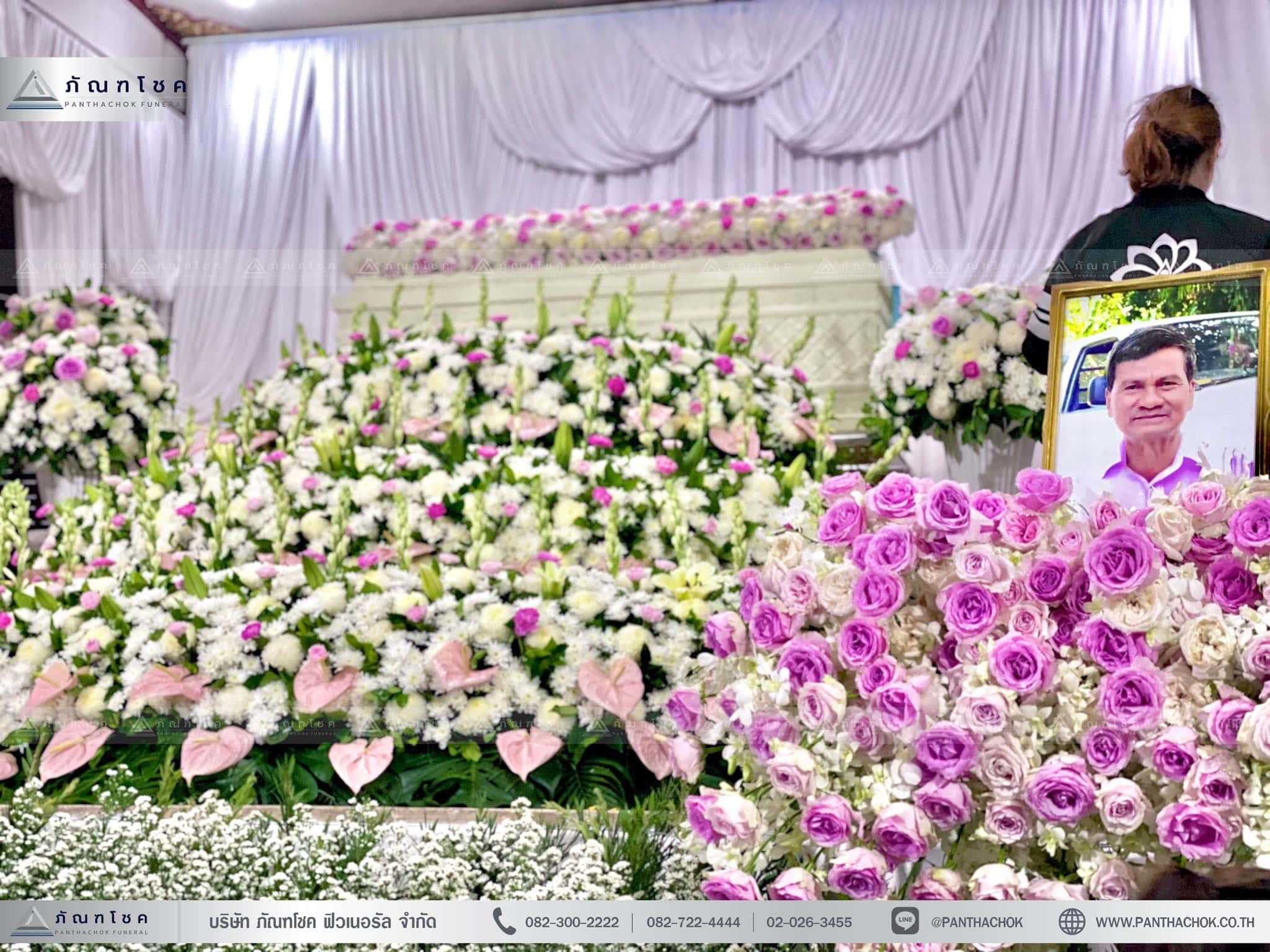 กรอบรูปนห้าหีบศพ ดอกไม้นอก ดอกไม้สดจากต่างประเทศ