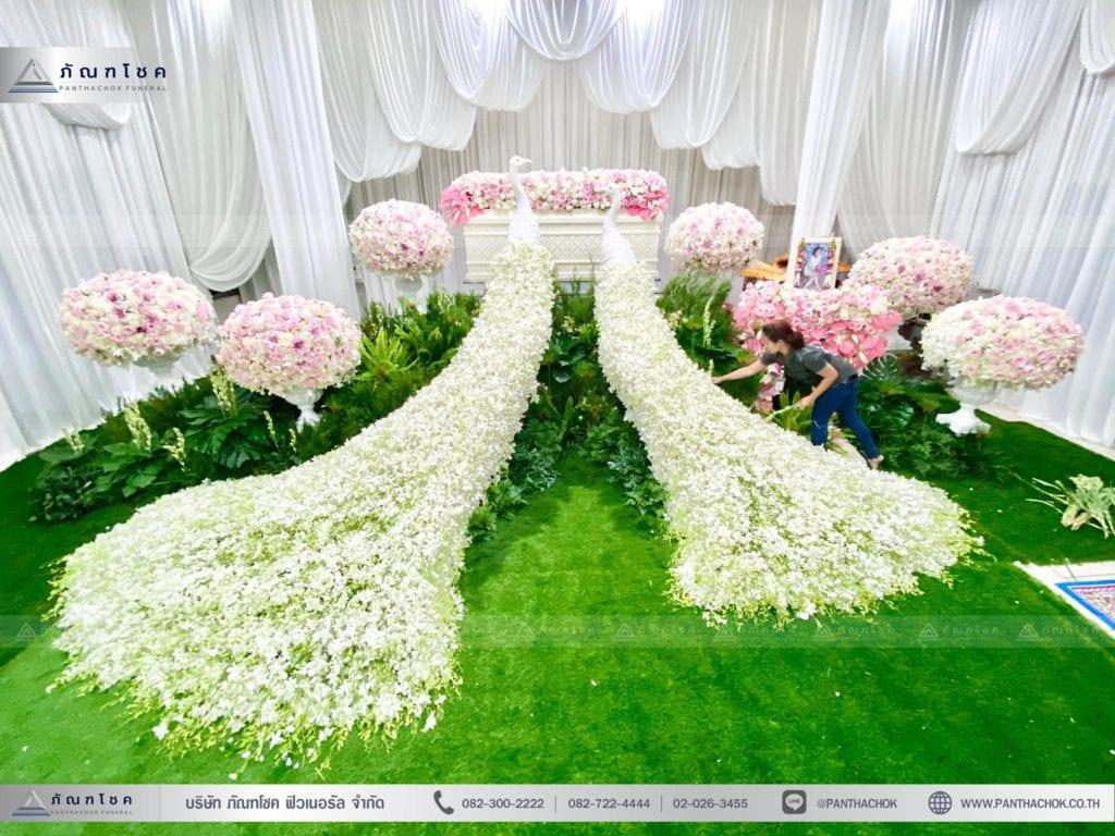 จัดดอกไม้งานศพนกยูง 6
