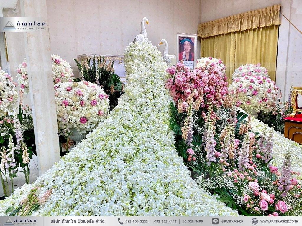 ดอกไม้นกยูงอลังการ จัดดอกไม้กรุงเทพ
