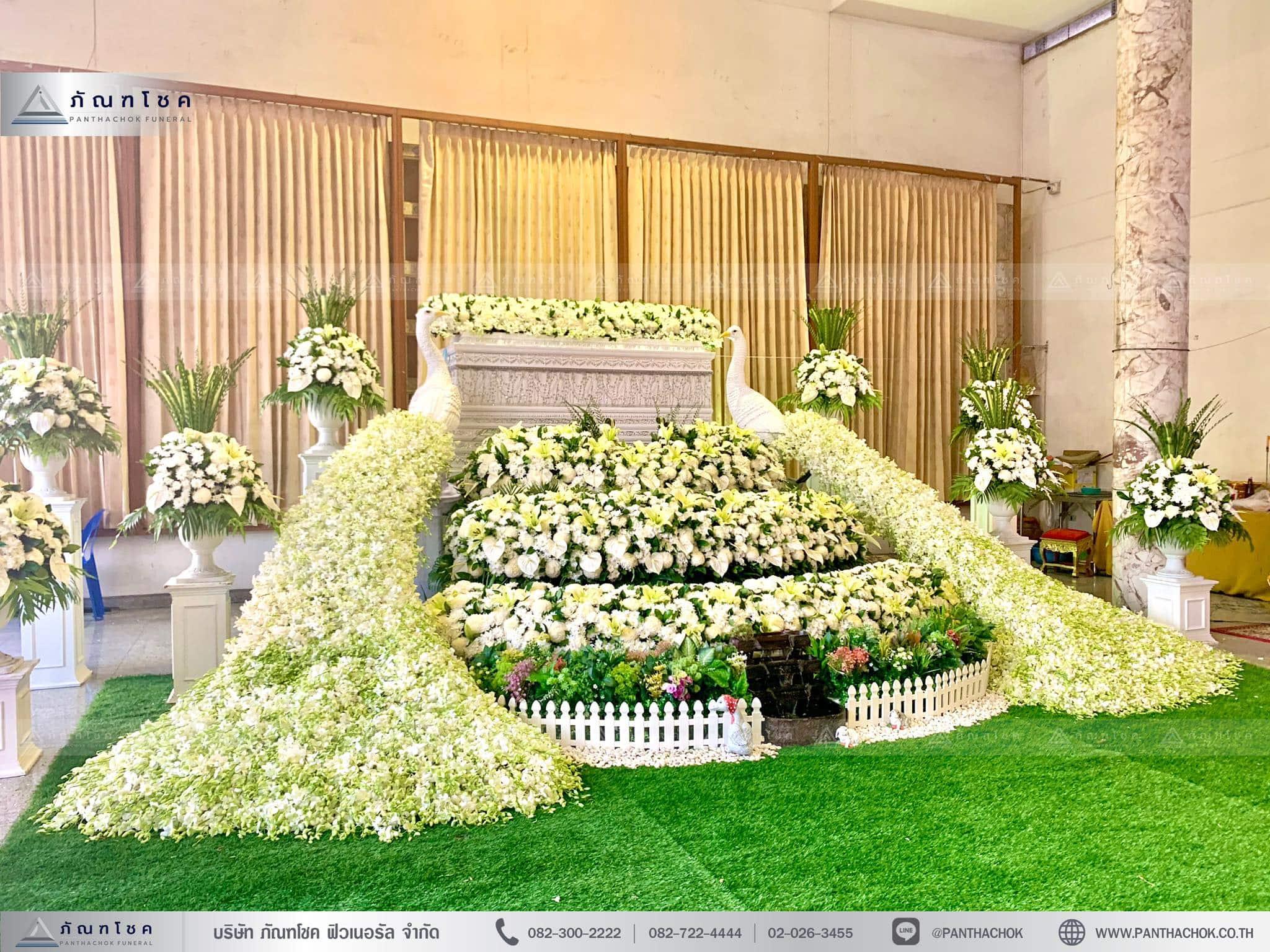 ดอกไม้ประดับหน้าโลง ดอกไม้หน้าศพ จัดดอกไม้ราชบุรี