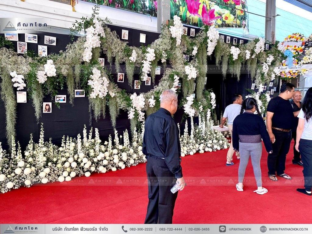 ดอกไม้ประดับงานศพหรูหรา ดอกไม้งานศพกรุงเทพ